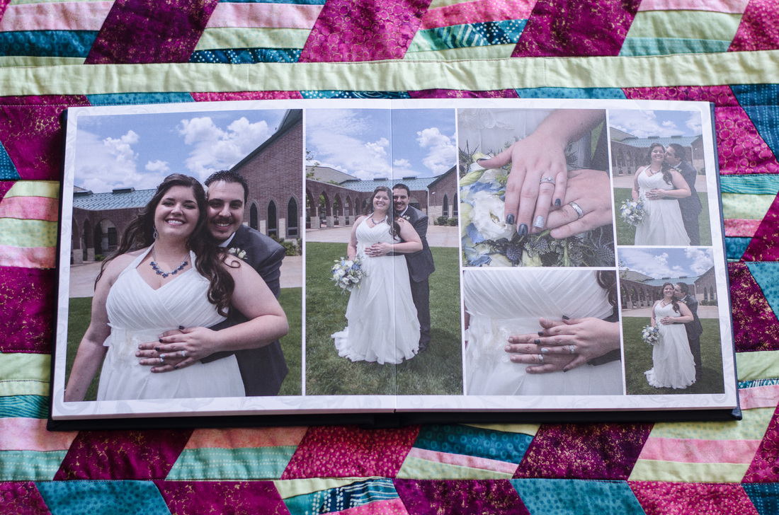 Custom designed wedding album - Monterey County Elopment Photographer - Fotofroggy Photography