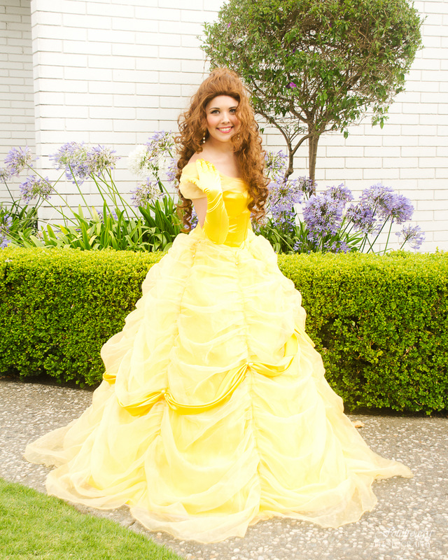 All That Glitters Princess Parties beautiful yellow ball gown