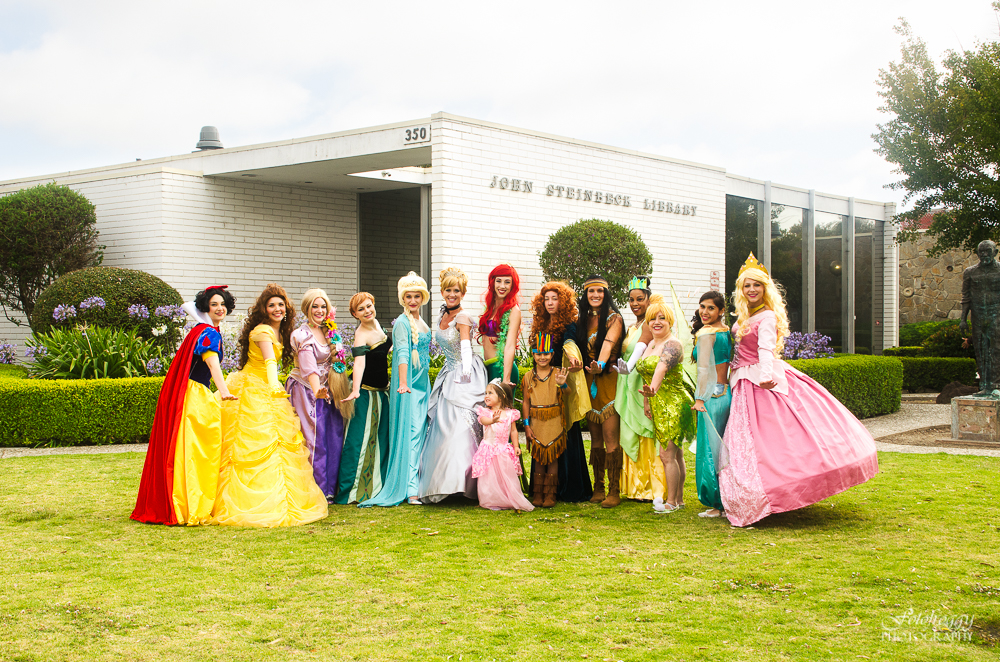 Huge cast of characters All That Glitters Princess Parties