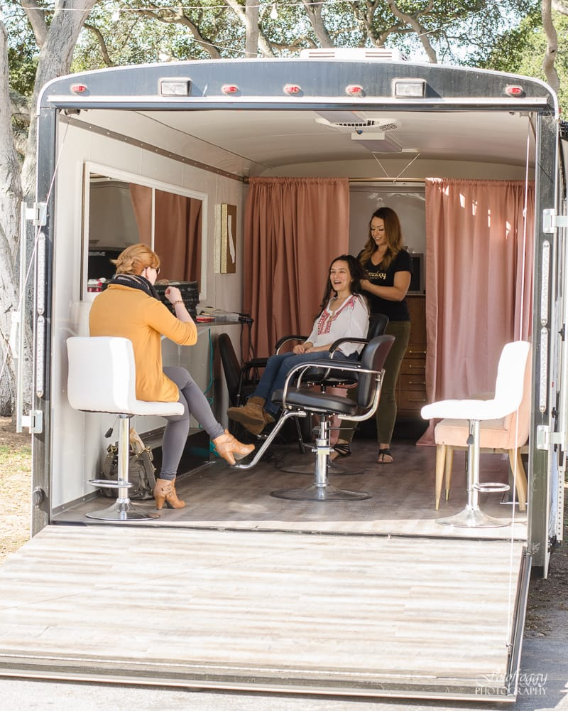 Glamology Beauty Lounge trailer in action - www.fotofroggy.com