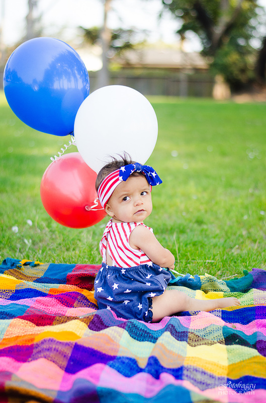 Fotofroggy Photography - toddler girl wear red white and blue