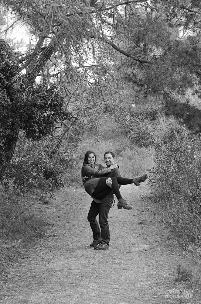 Fun Monterey Forest Engagement Photos - www.fotofroggy.com